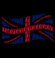 waving british flag mosaic of gentleman pray items vector image vector image