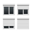 Window with roller shutters vector image vector image