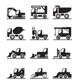 Construction trucks and vehicles vector image