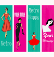 1950s style retro banners vector | Price: 1 Credit (USD $1)