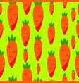 abstract carrot seamless pattern background vector image vector image