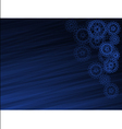 Abstract dark blue background with the gears vector image