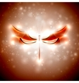 Abstract dragonfly vector image vector image