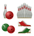 accessories for bowling play balls pins or vector image vector image