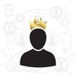 admin with gold crown icon vector image