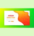 arrow direction landing page vector image vector image