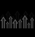 arrows up grayscale vector image vector image