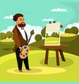 artist painting landscape flat vector image
