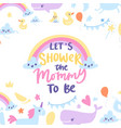 baboy shower card with cute rainbow vector image vector image