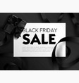 black friday sale poster with text sample and vector image vector image