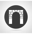 Brick archway black round icon vector image vector image