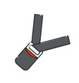 car seat belt vector image vector image
