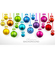 Christmas balls with ribbon and bows vector image vector image