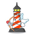 cupid lighthouse character cartoon style vector image