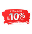 discount 10 percent in paper style vector image vector image