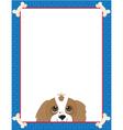 Dog bone frame vector image vector image