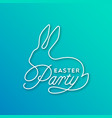 easter party linear lettering vector image vector image