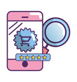 ecommerce online shopping smartphone vector image