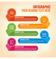 education infographic in colorful horizontal bars vector image vector image