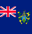 flag pitcairn islands flat style vector image