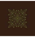 Floral Element Linear Style Line Art vector image vector image