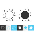 full moon simple black line icon vector image