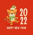 funny cartoon tiger vector image vector image