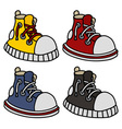 Funny color sneakers vector image vector image