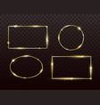 golden frames set with light effect glitter vector image vector image