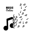 Graphic design of Music Online vector image