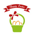 happy easter simple vector image vector image