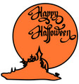 happy halloween design elements halloween design vector image
