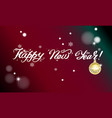 happy new year card with lettering vector image