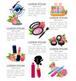 infographics beauty salon glamour cosmetics vector image
