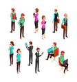 isometric 3d business people isolated office man vector image vector image