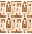 Landmarks of Paris monochrome seamless pattern vector image vector image