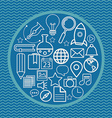 linear logo design template - online education vector image vector image