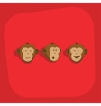 Monkeys faces smile emotions vector image
