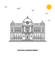 national museum serbia monument world travel vector image vector image