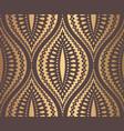 ogee pattern golden design vector image
