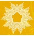 Ornamental mandala drawn in thin lines vector image vector image