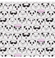 panda species pattern diversity black vector image vector image