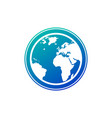 planet earth icon in gradient blue color earth vector image vector image