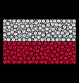 poland flag collage of life star icons vector image vector image