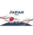 poster travel to japan mountain sakura japan vector image
