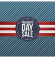 Presidents Day Sale realistic blue USA Emblem vector image vector image