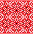 red background retro seamless pattern with dots vector image vector image