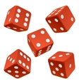 red dice set vector image vector image