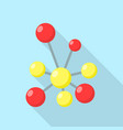 red yellow molecule icon flat style vector image