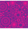 retro circles background vector image vector image